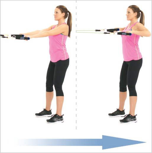 Exercise Of The Week: Standing Rows Using Resistance Bands - Courtney Medical Group